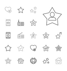22 favorite icons vector