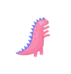 a worried dinosaur in childish style print funny vector image