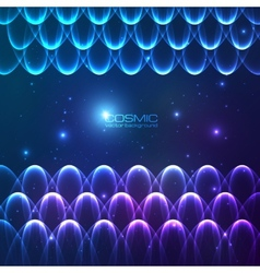 Abstract shining lines cosmic background vector