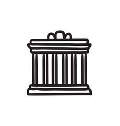 acropolis of athens sketch icon vector image