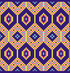 african geometric seamless pattern pixel art and vector image