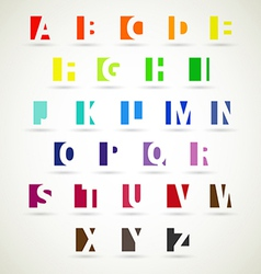 alphabet set of bright color vector image