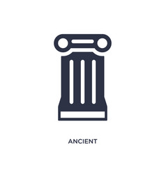 Ancient icon on white background simple element vector