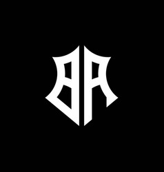 Ba monogram logo with a sharp shield style vector