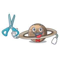 Barber pluto saturn isolated in with mascot vector