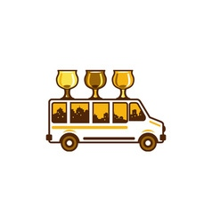 Beer Flight Glass Van Retro vector image