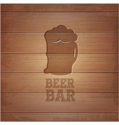 Beer octoberfest poster vector image