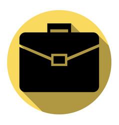 briefcase sign flat black vector image