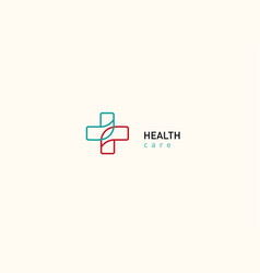 Bright logo on medicine and health cross vector