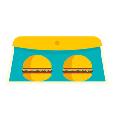 burger truck box icon flat style vector image