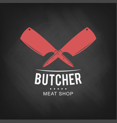 Butcher meat shop logo design retro butcher shop vector