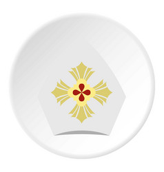 Catholic hat icon circle vector