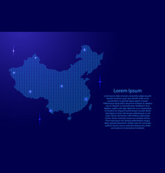 china map country abstract silhouette from wavy vector image