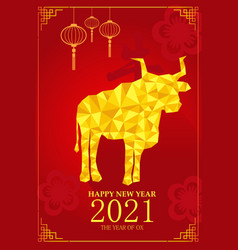 chinese new year design for year of ox vector image