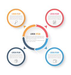Circle infographic template with three elements vector