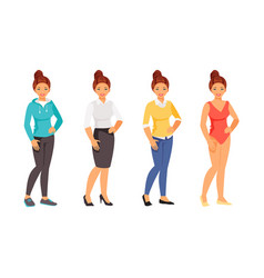 clothing styles 2 vector image