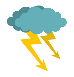 Cloud storm icon isolated vector