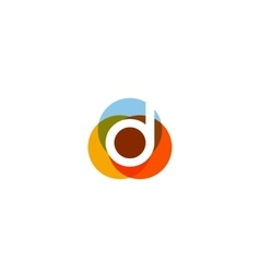 Color letter d logo icon design vector