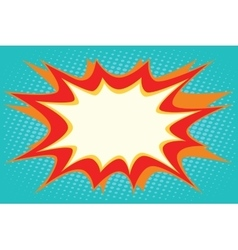 Comic book explosion bubble dynamic vector image