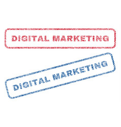 Digital marketing textile stamps vector