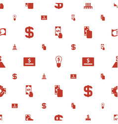 Dollar icons pattern seamless white background vector