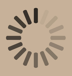Download sign on beige background load icon data vector