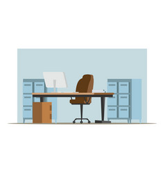 empty private office flat vector image