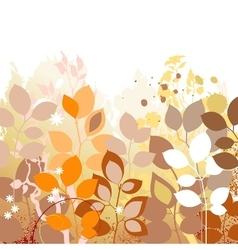Fall leaves background Autumn in foliage colors vector