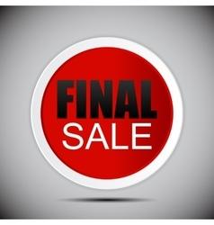 Final Sale Label vector