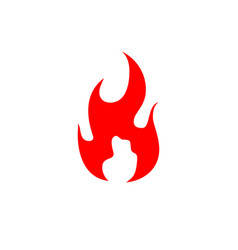 fire flame logo stock icon vector image