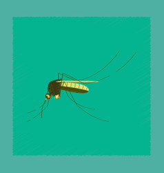 Flat shading style insect mosquito vector
