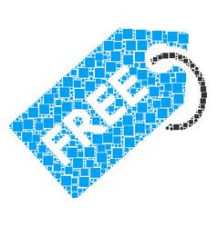 Free tag mosaic of squares and circles vector