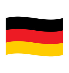 German flag canvas wave vector