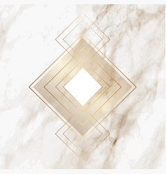 Gold diamond pattern on elegant marble texture vector