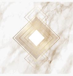 Gold diamond pattern on elegant marble texture vector