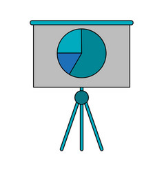 graph chart on board icon image vector image