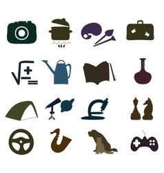 Hand drawn Hobby Icons set vector