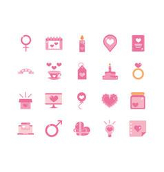 happy valentines day celebration decoration vector image