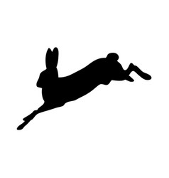 Hare silhouette vector