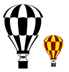 Hot air balloon black symbol vector