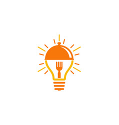 Idea food logo icon design vector