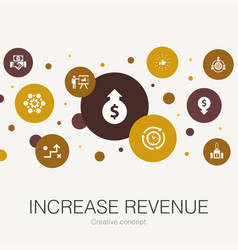 Increase revenue trendy circle template with vector