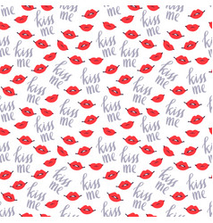 Kiss me and lips seamless pattern-02 vector
