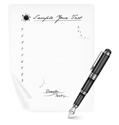 List blanc pen vector