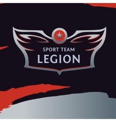 logo template sport team Wings of a bird vector image