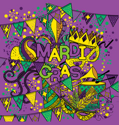 mardi gras or shrove tuesday vector image
