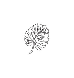 one continuous line drawing exotic beauty vector image