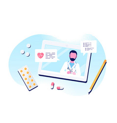 online medical consultation concept vector image