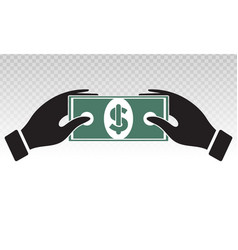 Payment money buying or purchase goods vector