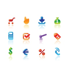 Perfect icons for online trade vector
